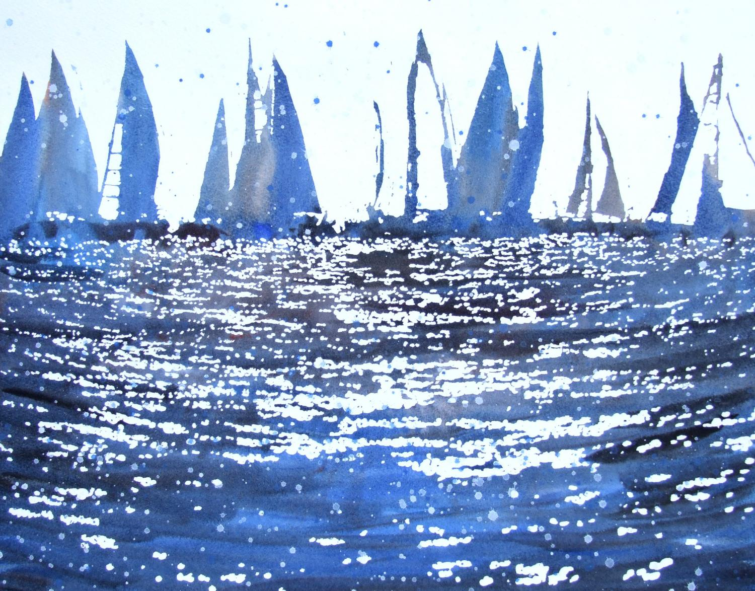 Cowes Starting Line