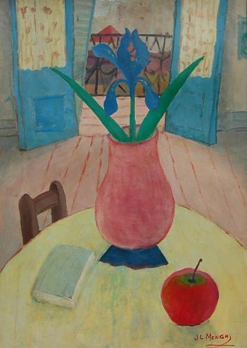 José Luis Menghi - Still Life with Apple