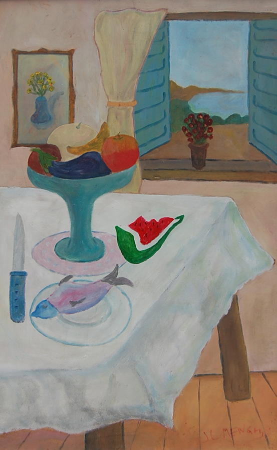 José Luis Menghi - Still Life with Watermelo