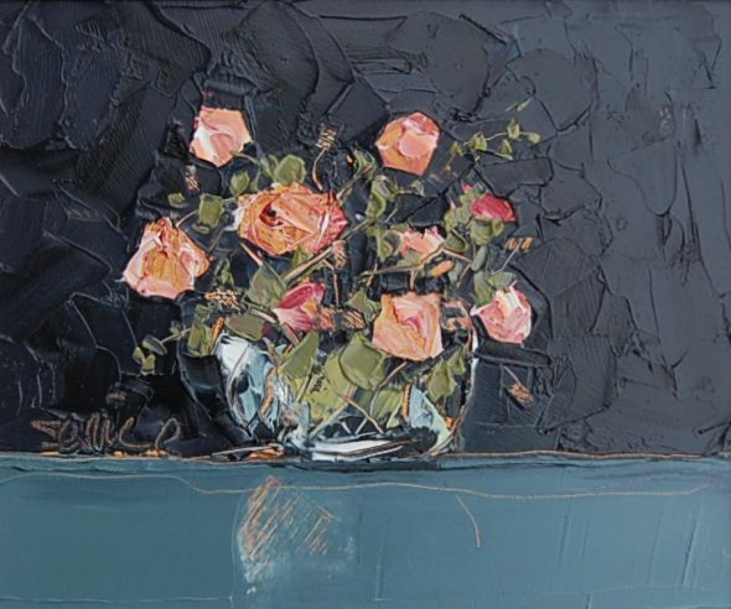 Roses in Glass Bowl