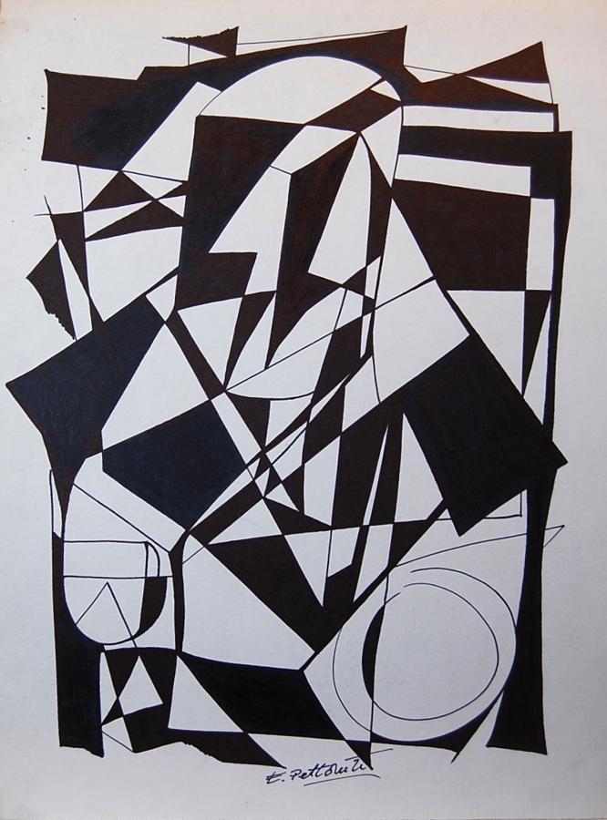 (After) Emilio Pettoruti - Monochrome Man