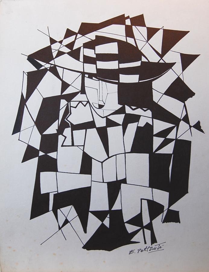 (After) Emilio Pettoruti - Monochrome Woman