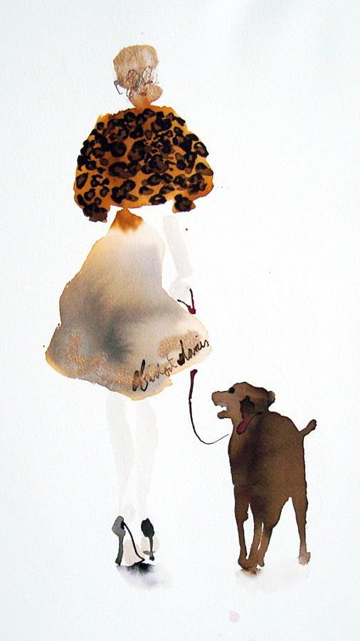 Walking the Dog - Leopard Coat