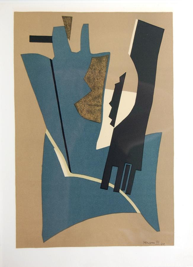 Alberto Magnelli - Composition in Teal