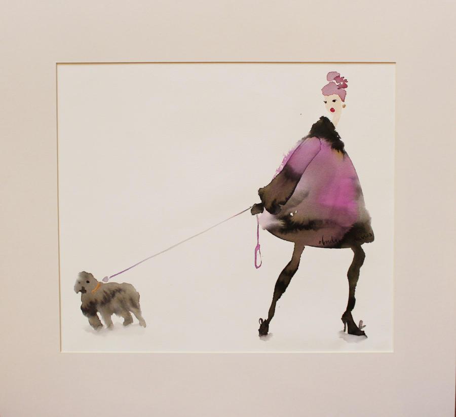 Bridget Davies - Purple Coat