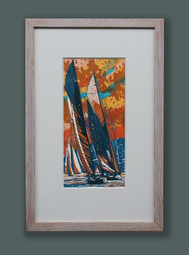 John Scott Martin - Sunset at St Tropez