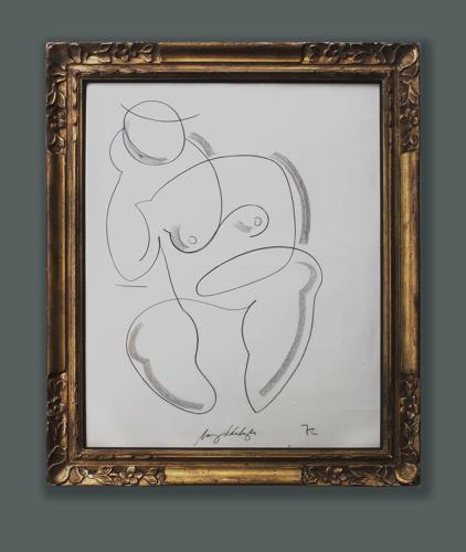 Coninental School - Seated Nude