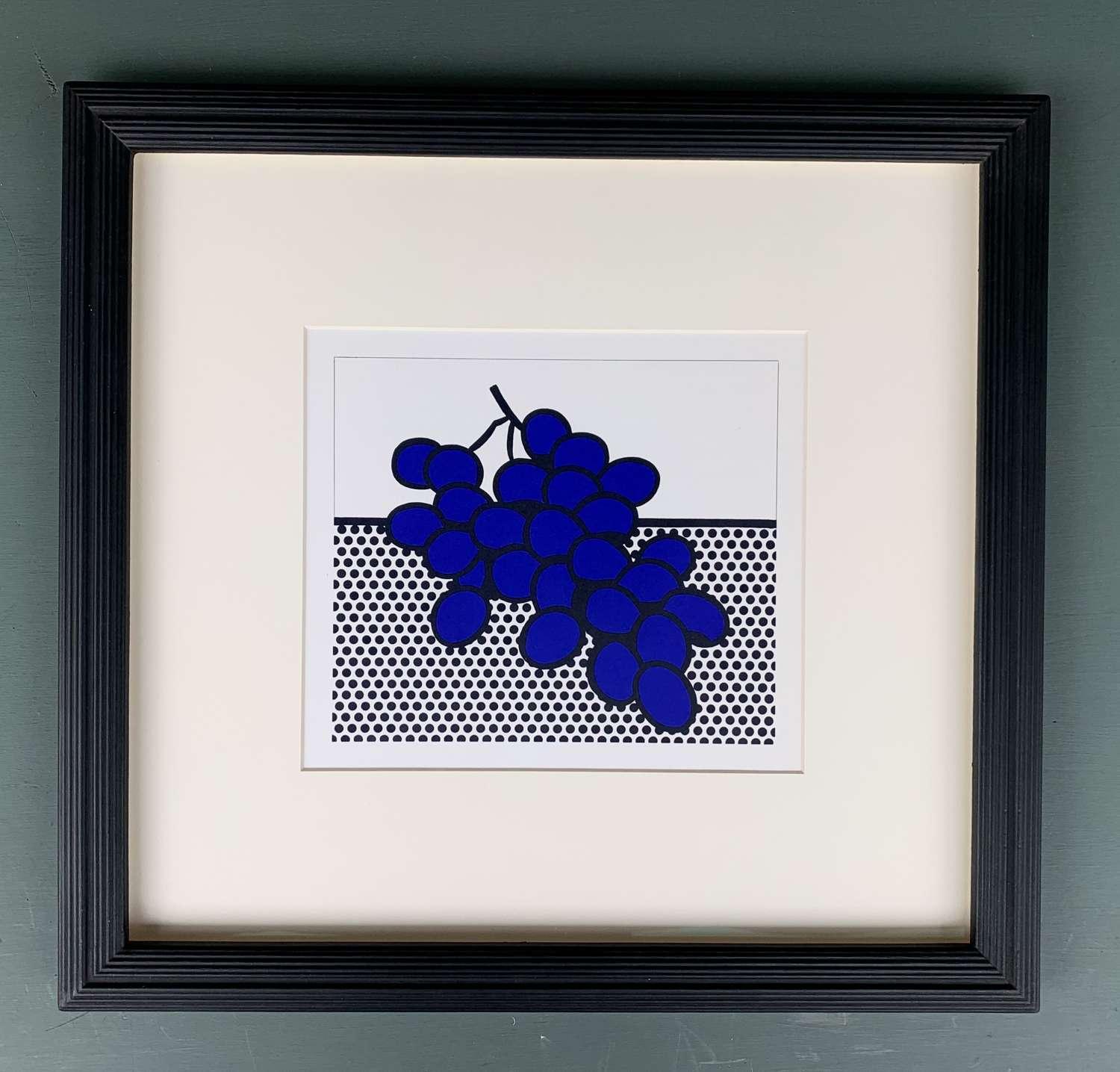 Roy Lichtenstein - Grapes (Lithograph 1973)