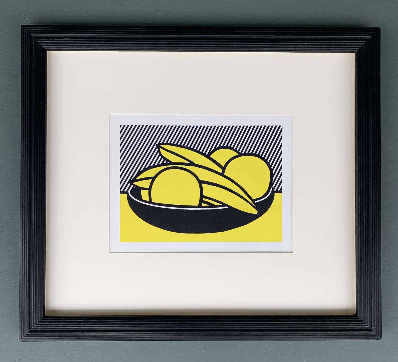 Roy Lichtenstein - Fruit Bowl (Lithograph 1973)