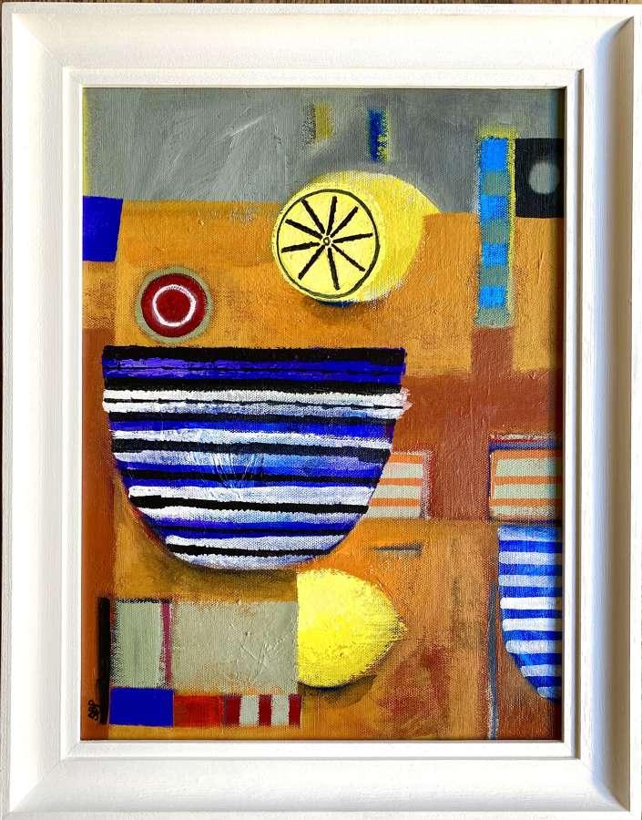 Striped Bowl with Lemons - Sarah Baddon Price
