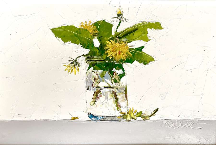 Dandelions in Jam Jar - Mike Service