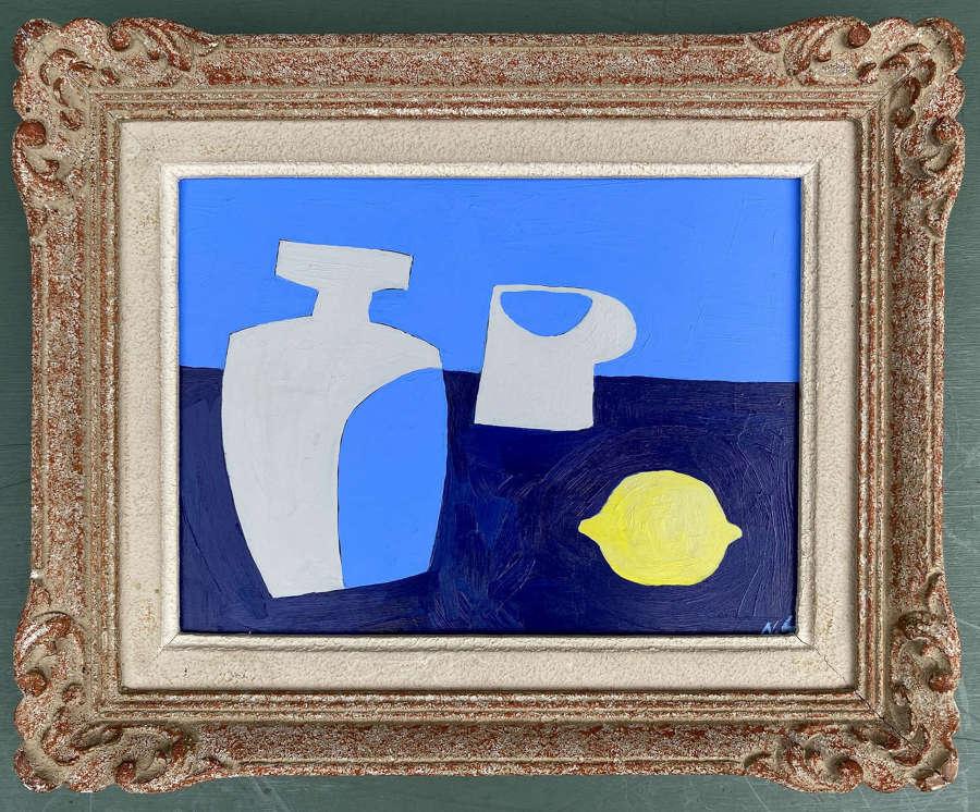 Sake Bottle and Lemon - Neil Giles