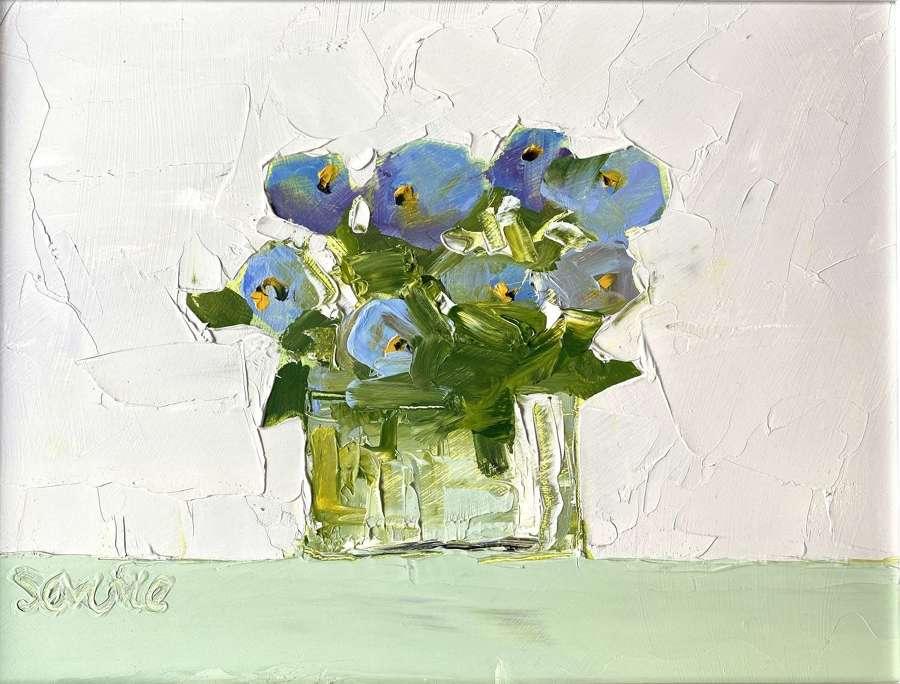 Blue Pansies - Mike Service